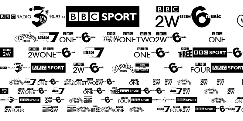 BBC TV Channel Logos Regular : Download For Free, View