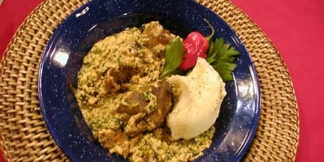 Egusi and Pounded Yam Recipe in Nigeria