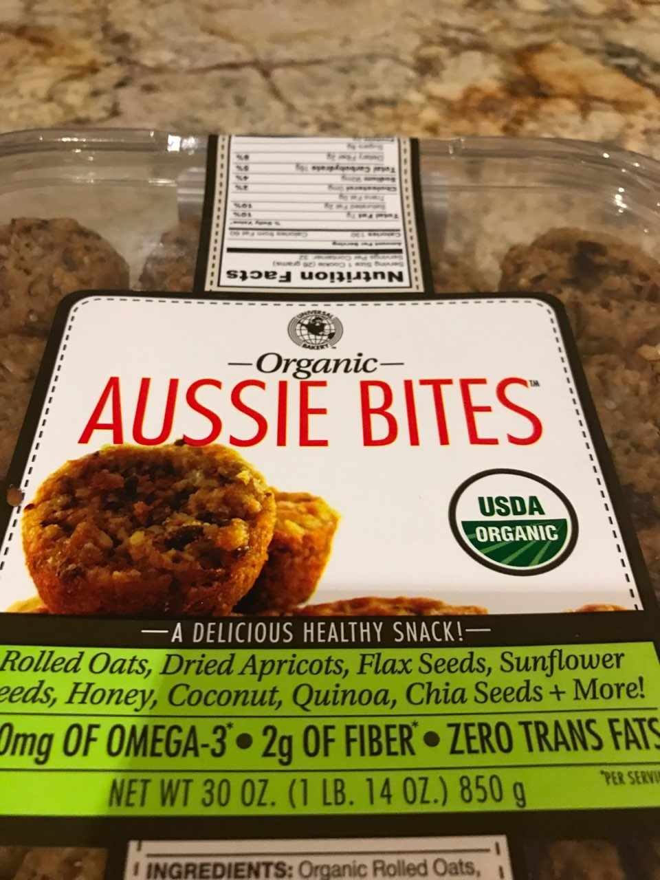 Aussie Bites Calories : aussie, bites, calories, Universal, Bakery, Aussie, Bites,, Organic:, Calories,, Nutrition, Analysis, Fooducate