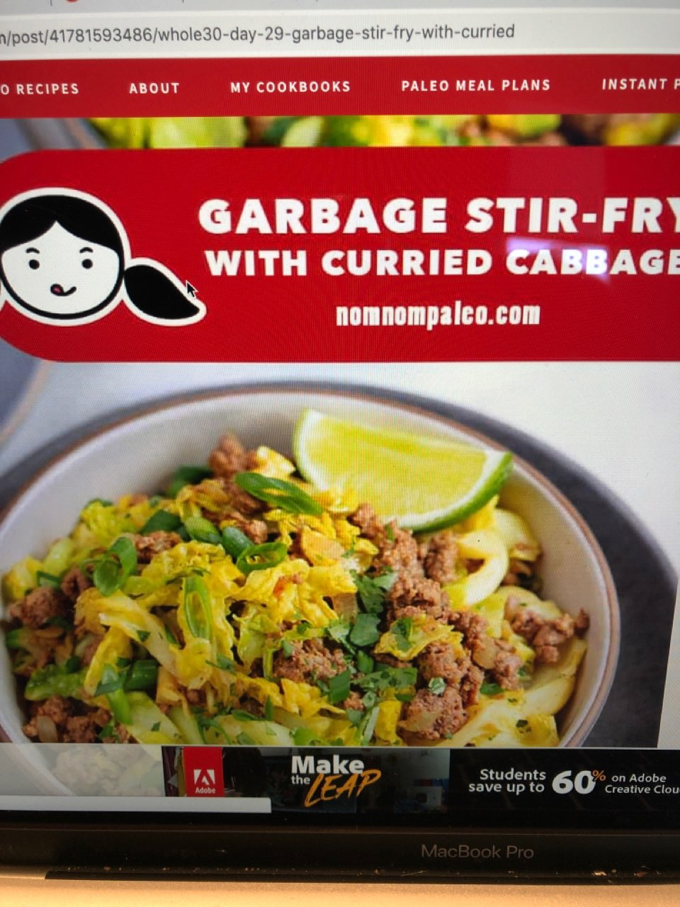 garbage stir-fry w/ curried cabbage: Directions calories ...