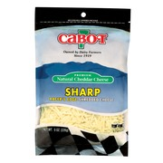 Cabot Vermont Sharp White Cheddar Shred Calories