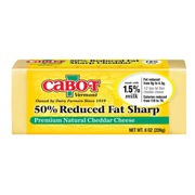Cabot Vermont 50 Reduced Fat Sharp White Cheddar