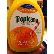 Tropicana 100 Pure Natural Orange Juice Lots of Pulp