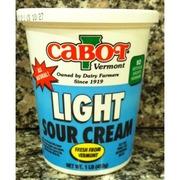Cabot Vermont Light Sour Cream Calories Nutrition
