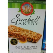 Sunbelt Bakery Oats amp Honey Chewy Granola Bars Calories