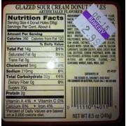 Kroger Glazed Sour Cream Donut Holes: Calories Nutrition ...