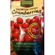 Paradise Meadow Premium Dried Cranberries Calories