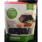 Simple Truth Natural Dark Chocolate Covered Almonds ...