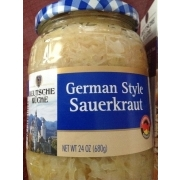 Deutsche Kuche German Style Sauerkrant Calories Nutrition Analysis  More  Fooducate