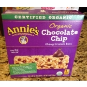 Annie39s Organic Chocolate Chip Chewy Granola Bar Calories