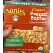 Annie39s Homegrown Organic Peanut Butter Chewy Granola Bars