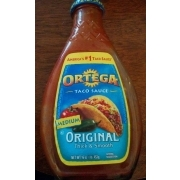 Ortega Taco Sauce Original Medium Thick Smooth