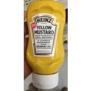 Heinz Yellow Mustard 100% Natural: Calories Nutrition ...