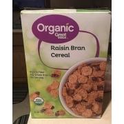 Organic Great Value Raisin Bran cereal: Calories ...