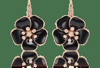 Rosato Black Marigold - Diamond and 18K Gold Black Flower ...