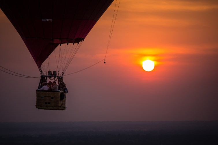 voo de balão em Bagan