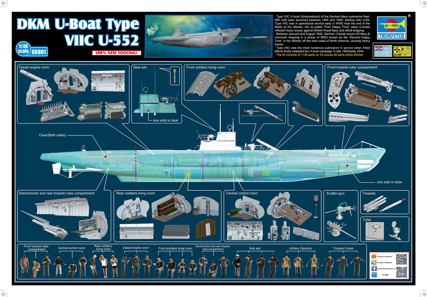 hight resolution of kit consists of over 1 100 parts including a one piece hull and photo etched parts the completed kit is over 55 inches long and features a clear starboard