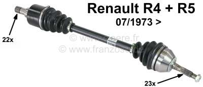 R4, Drive shaft. Suitable for Renault R4 + R5 (fits on the