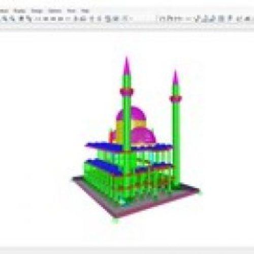 SAP2000 'de Bir Cami Projesinin Analizi