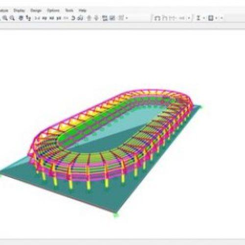 SAP2000 'de Bir Stadyum Yapısının Analizi