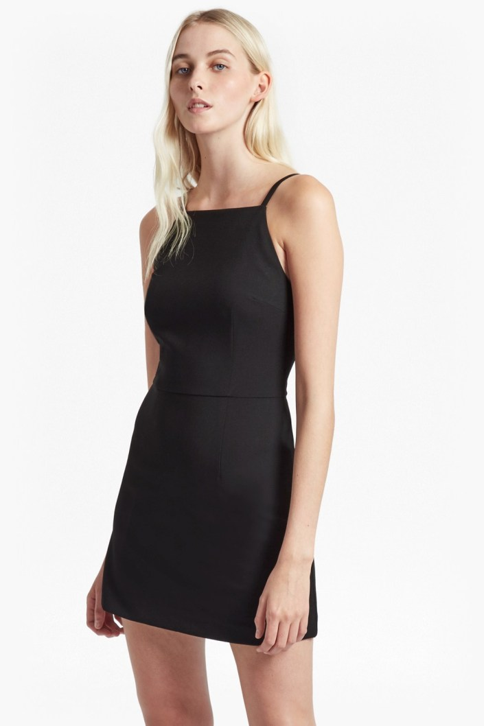WHISPER SQUARE NECK DRESS french connection