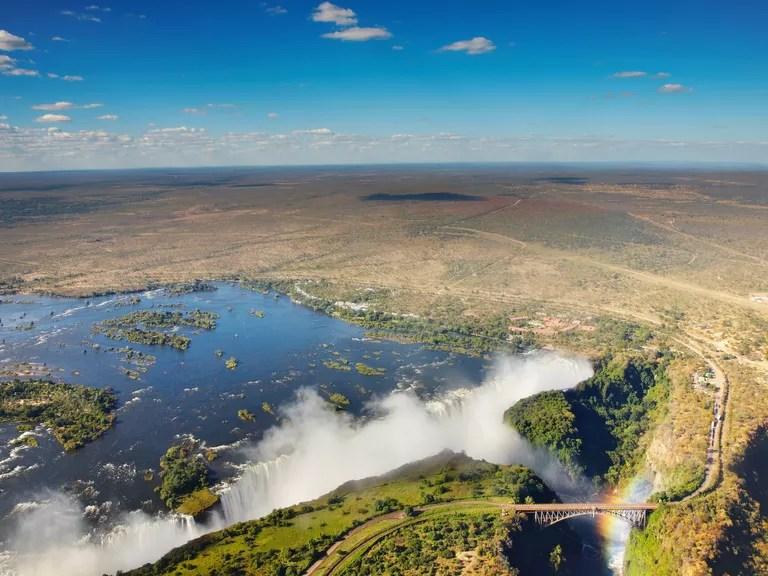 Aerial picture of Victoria Falls
