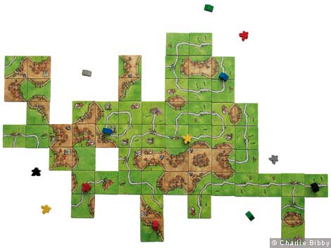 The board game Carcassonne