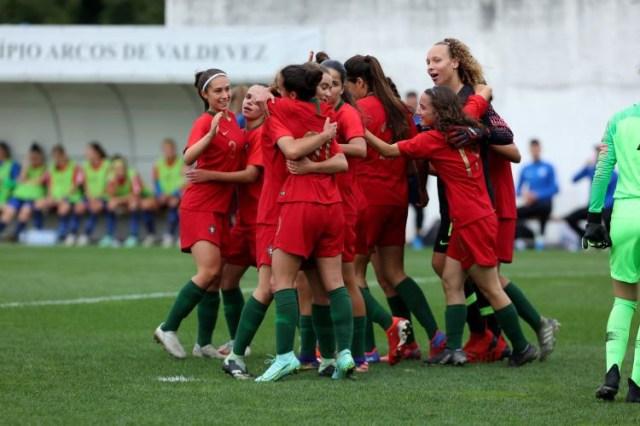 Seleção portuguesa de futebol feminino sub-17 vence Eslováquia em jogo de preparação
