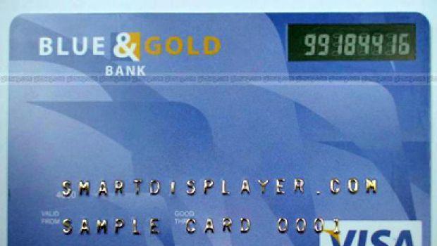 Carta di credito con codice casuale