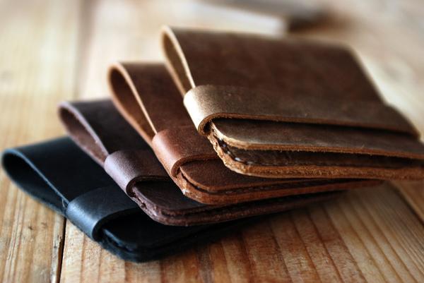 The Handmade Reddish Brown Slim Leather Wallet  Gadgetsin