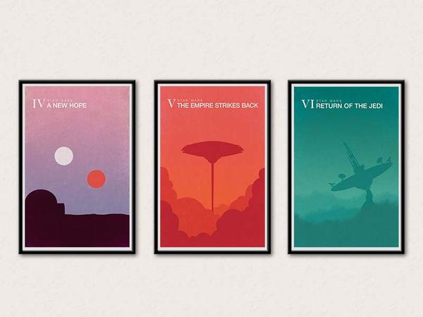 Iphone X Wallpaper Hd The Star Wars Minimalistic Poster Set Gadgetsin