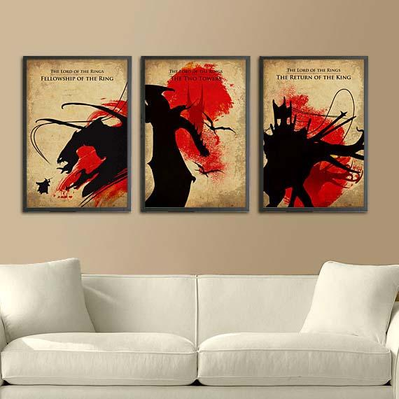 The Lord of the Rings Trilogy Poster Set  Gadgetsin