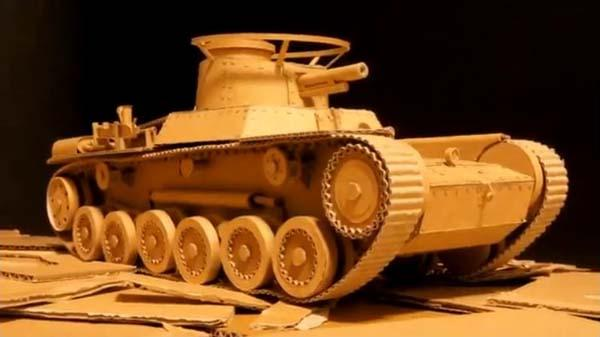 The Remote Controlled Tank Built With Amazon Boxes Gadgetsin