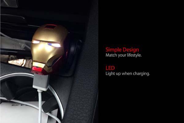 Iron Man USB Car Charger  Gadgetsin
