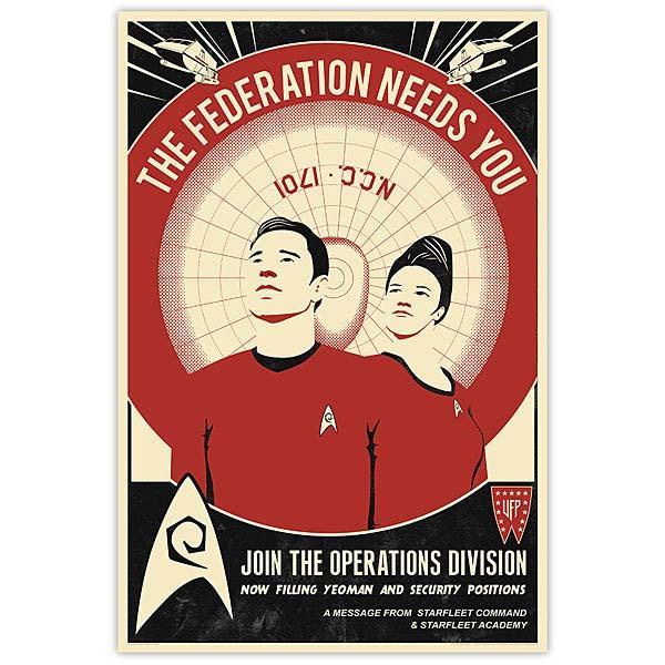 Star Trek Propaganda Art Prints  Gadgetsin