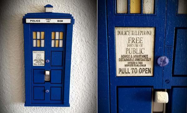 Doctor Who TARDIS Switch Plate Cover  Gadgetsin