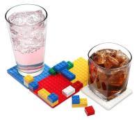 Building Brick Drink Coaster Set | Gadgetsin