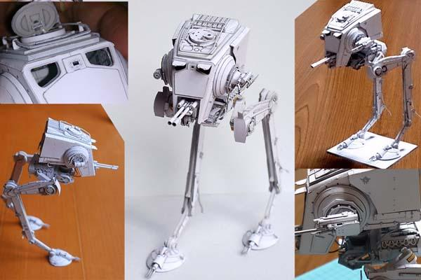 Star Wars ATST Paper Craft  Gadgetsin