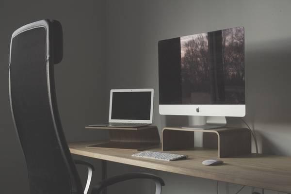 DeskCandy Wooden Computer Stands for Laptops and Desktops