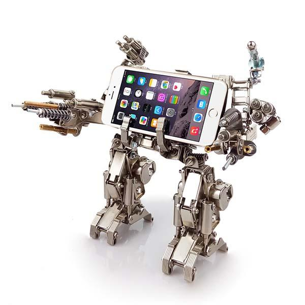 The Handmade Full Metal Robot Kit Phone Stands  Gadgetsin