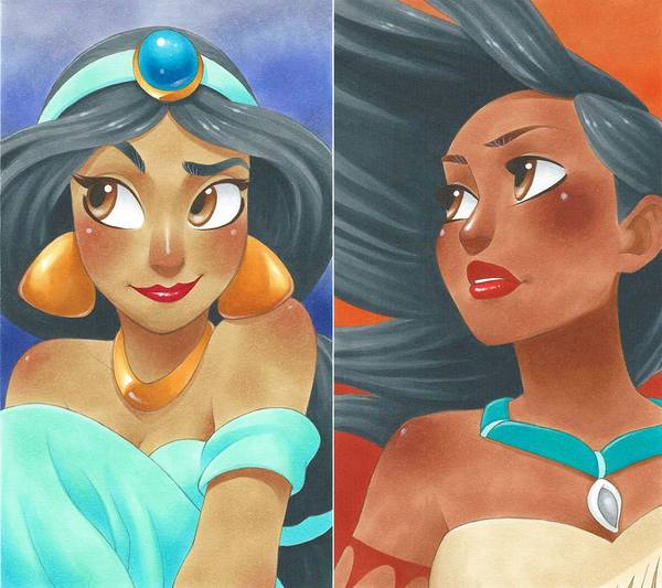 Pretty Cute Disney Princess Portraits by Chihiro Howe