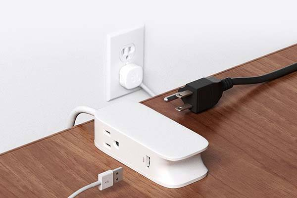 BlueLounge Portiko Extension Cord with Two Outlets and Two