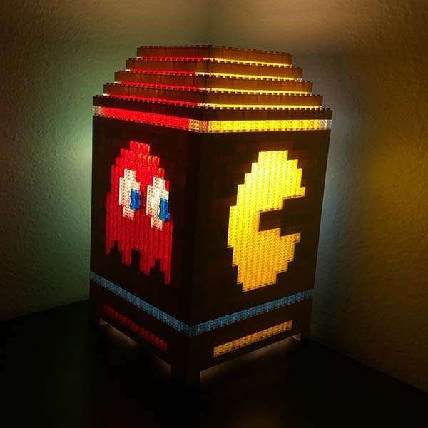 The PacMan Night Light Built with LEGO Bricks  Gadgetsin