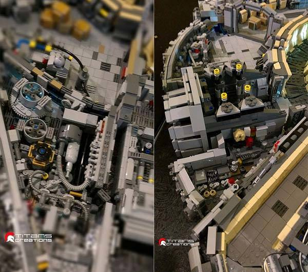 The Full Interior of Millennium Falcon Built with 10000