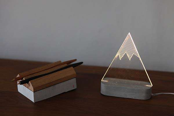 The Handmade Modern Concrete LED Lamps Add Aesthetics to