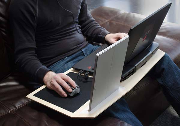 Hover X is a Versatile Laptop Lap Desk for Gamers  Gadgetsin