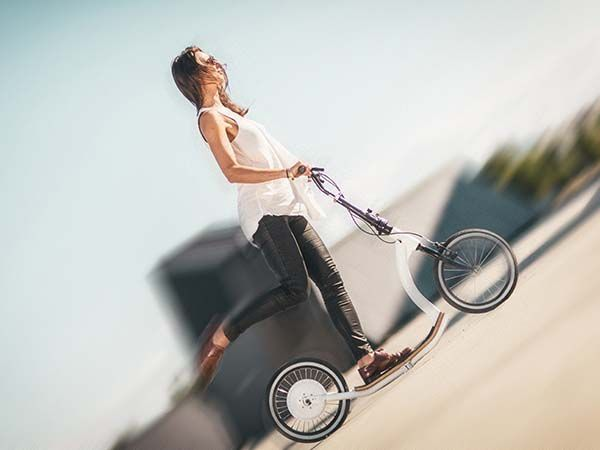 FlyKly Smart Ped Is A Foldable Electric Scooter Gadgetsin