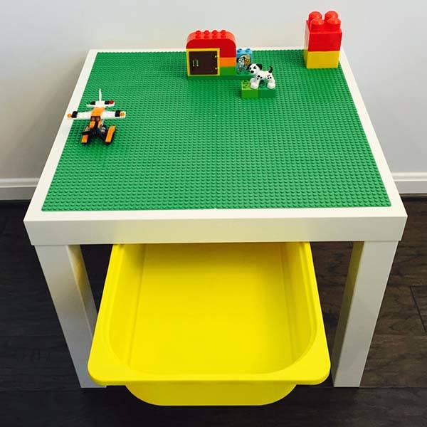 The Handmade LEGO Table with Storage Bin Unleashes Your