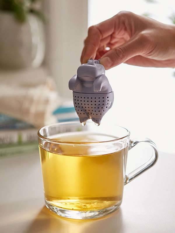 The Cute Hippo Tea Infuser  Gadgetsin