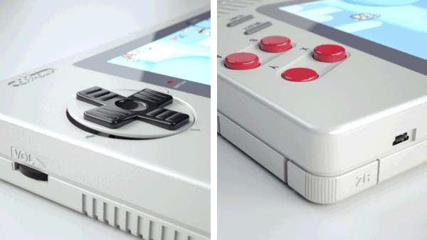 The Nintendo Game Boy 1up Handhold Game Console Inspired